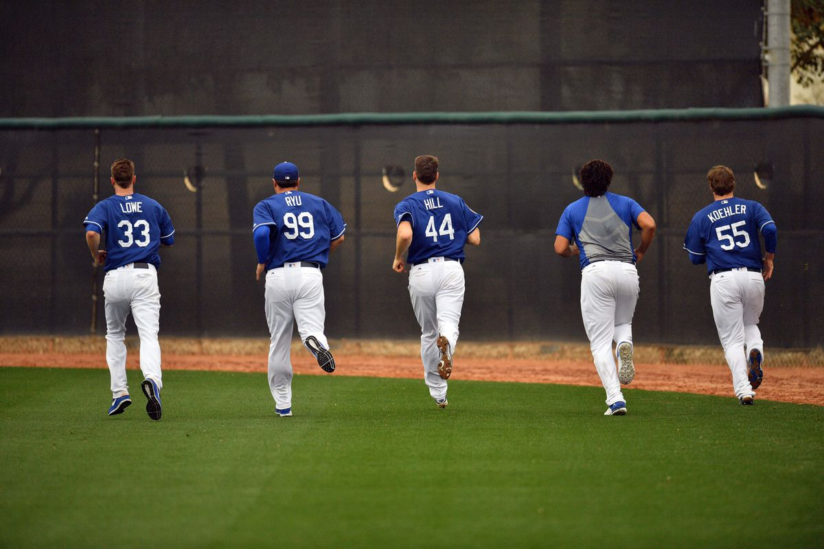 MLB: Los Angeles Dodgers-Workout