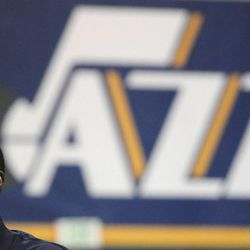 Jazz Head Coach Tyrone Corbin during media day at the Zions Bank Basketball Center on Sept. 30