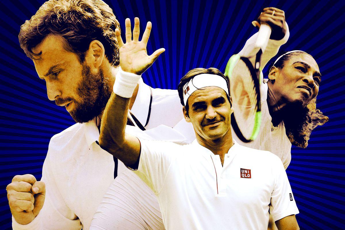 Roger Federer, Serena Williams, and Ernests Gulbis