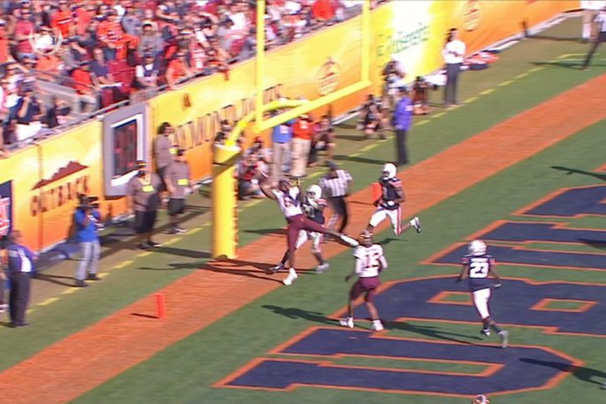 Tyler Johnson touchdown catch in the back of the end zone