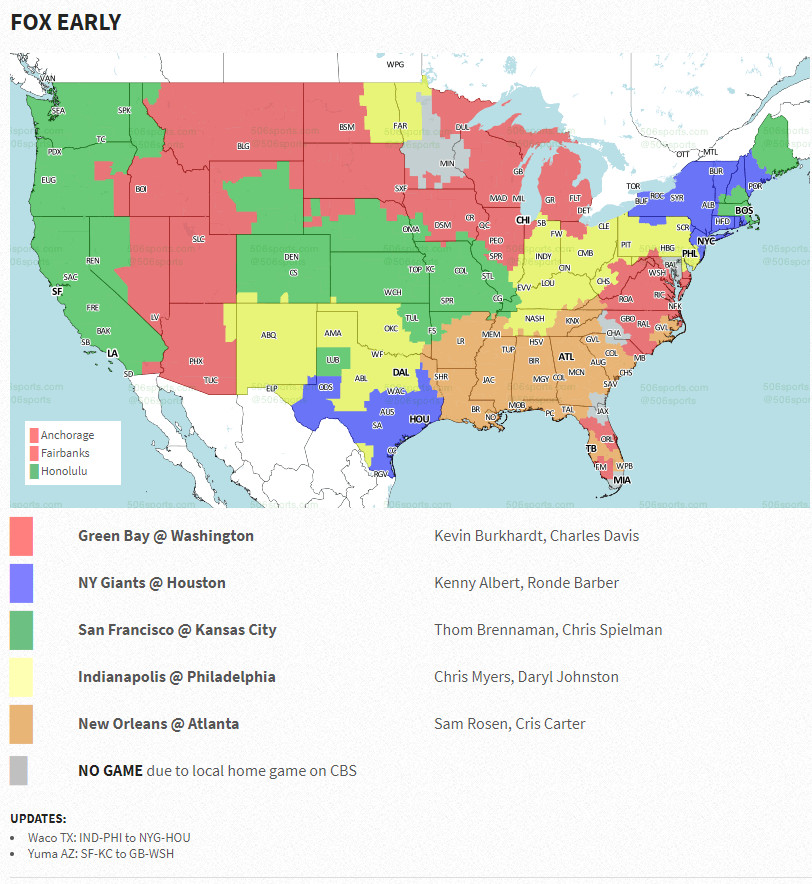 Nfl Week 3 Tv Coverage Map Bengals Vs Panthers Cowboys Vs Seahawks Highlight Sunday Action Cincy Jungle