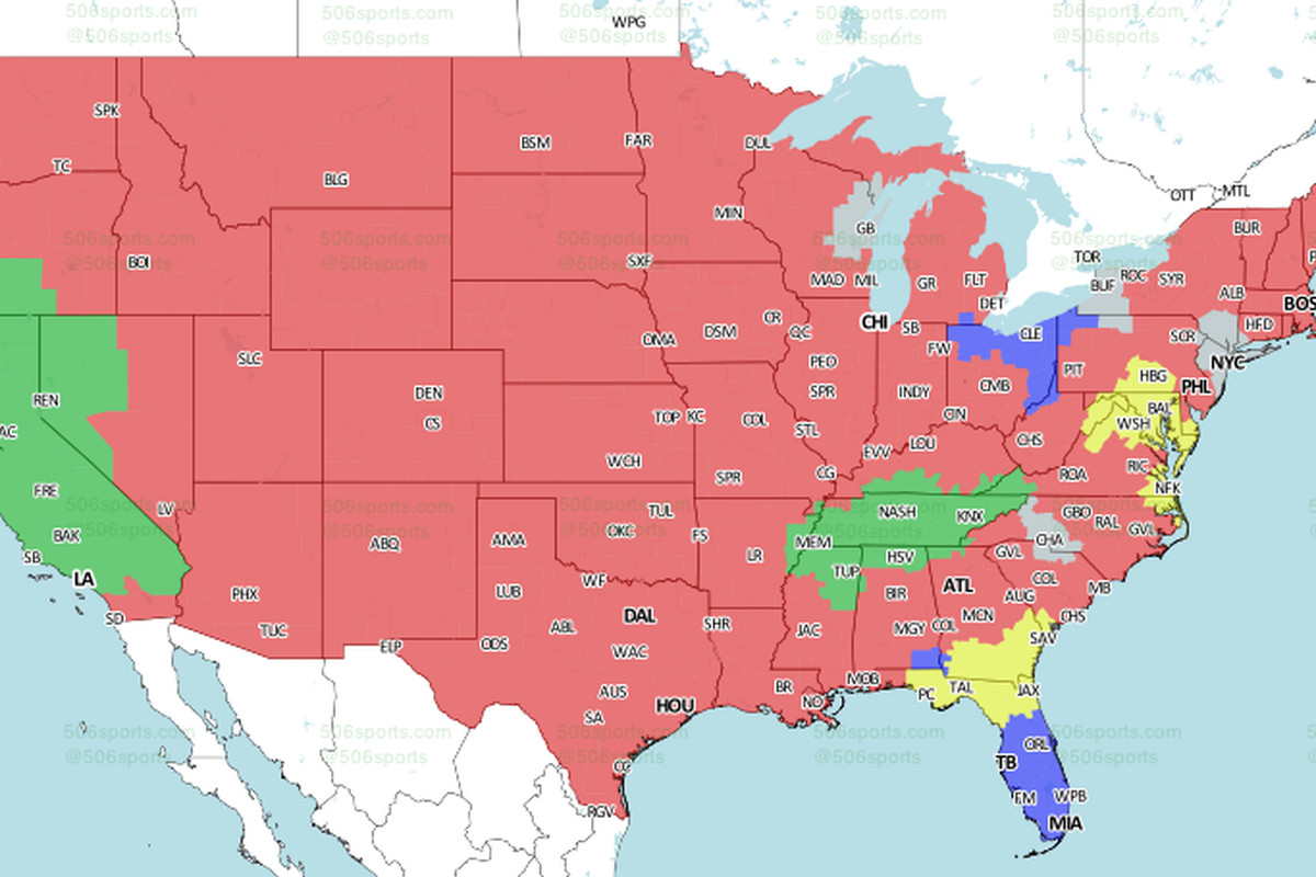 Baltimore Ravens Map Jaguars vs. Ravens: Week 3 TV viewing map on CBS   Big Cat Country