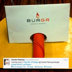 The BurGR logo and name tweeted by Gordon Ramsay.