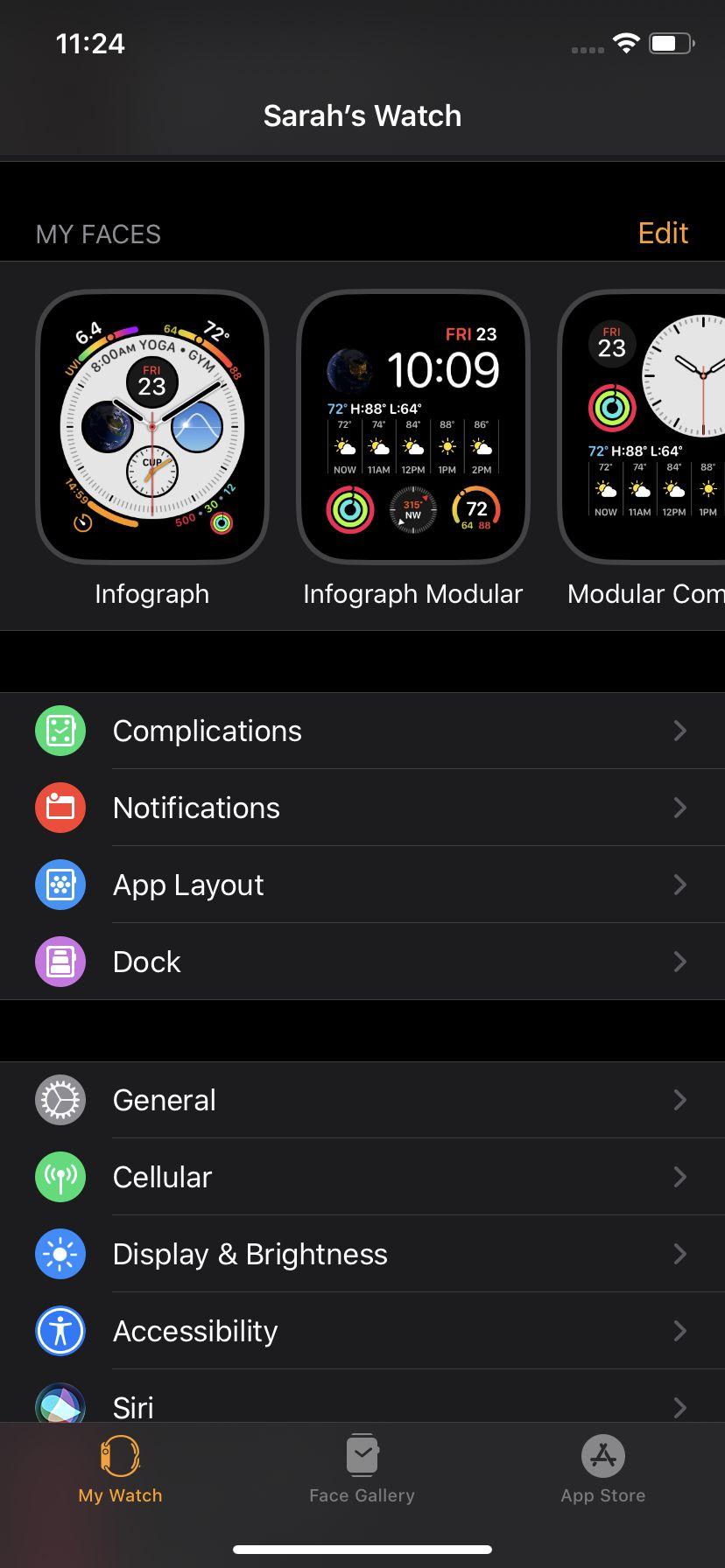 . Screenshots on the Apple Watch