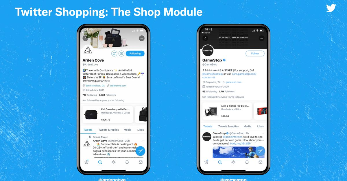 Twitter pilots a new shopping section for brands - The Verge