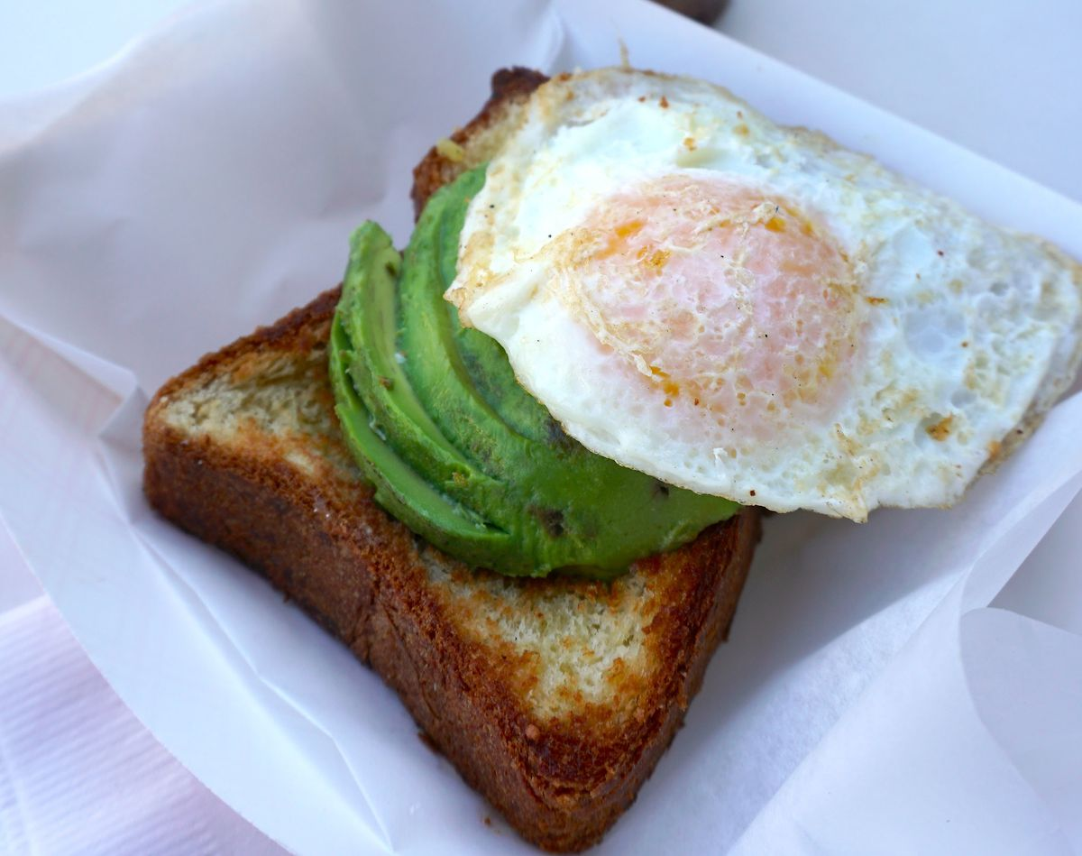 Avocado toast from The Rooster