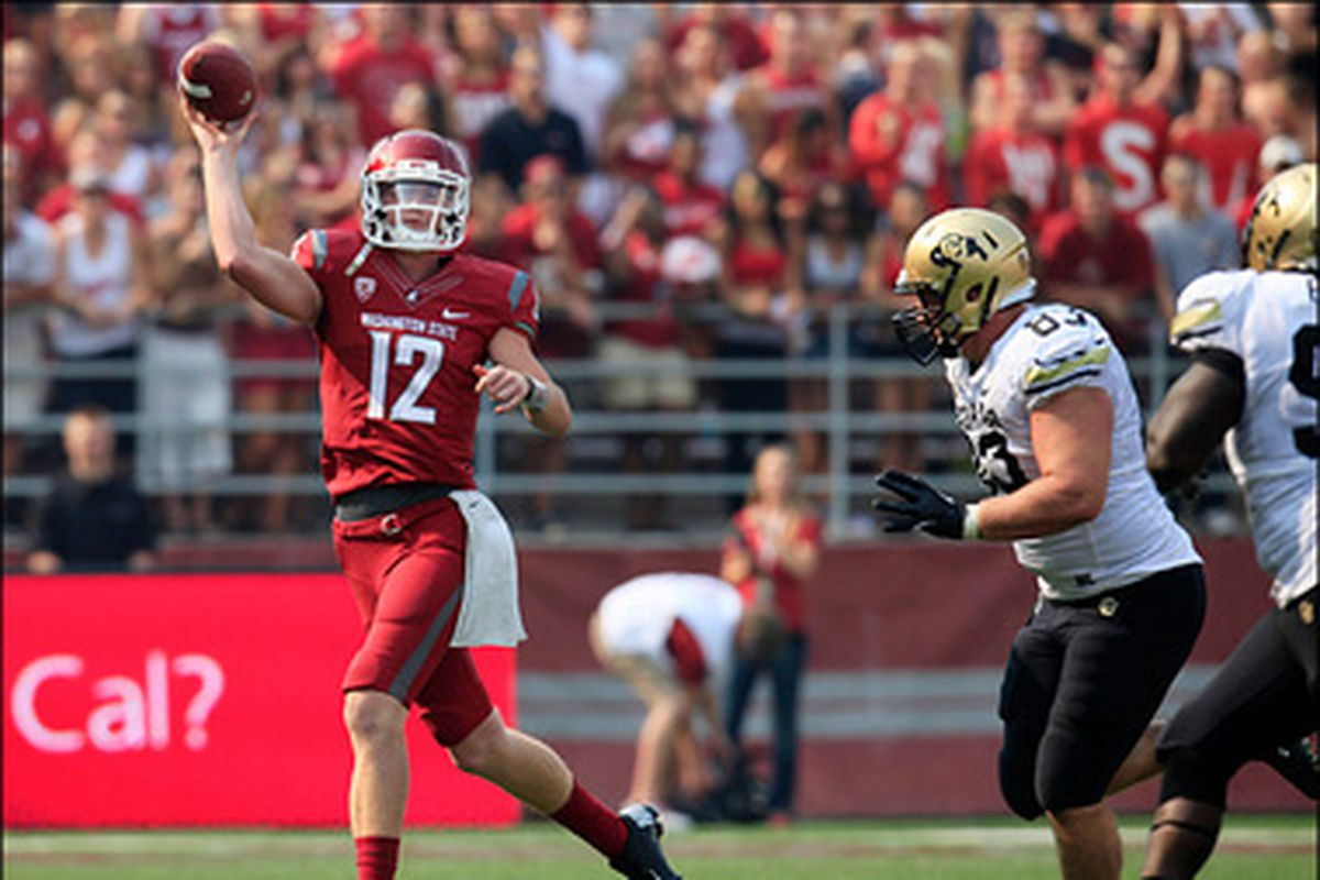Washington St.'s Connor Halliday will be looking forward to a shoot-out with Oregon St.'s Sean Mannion next week in Pullman.