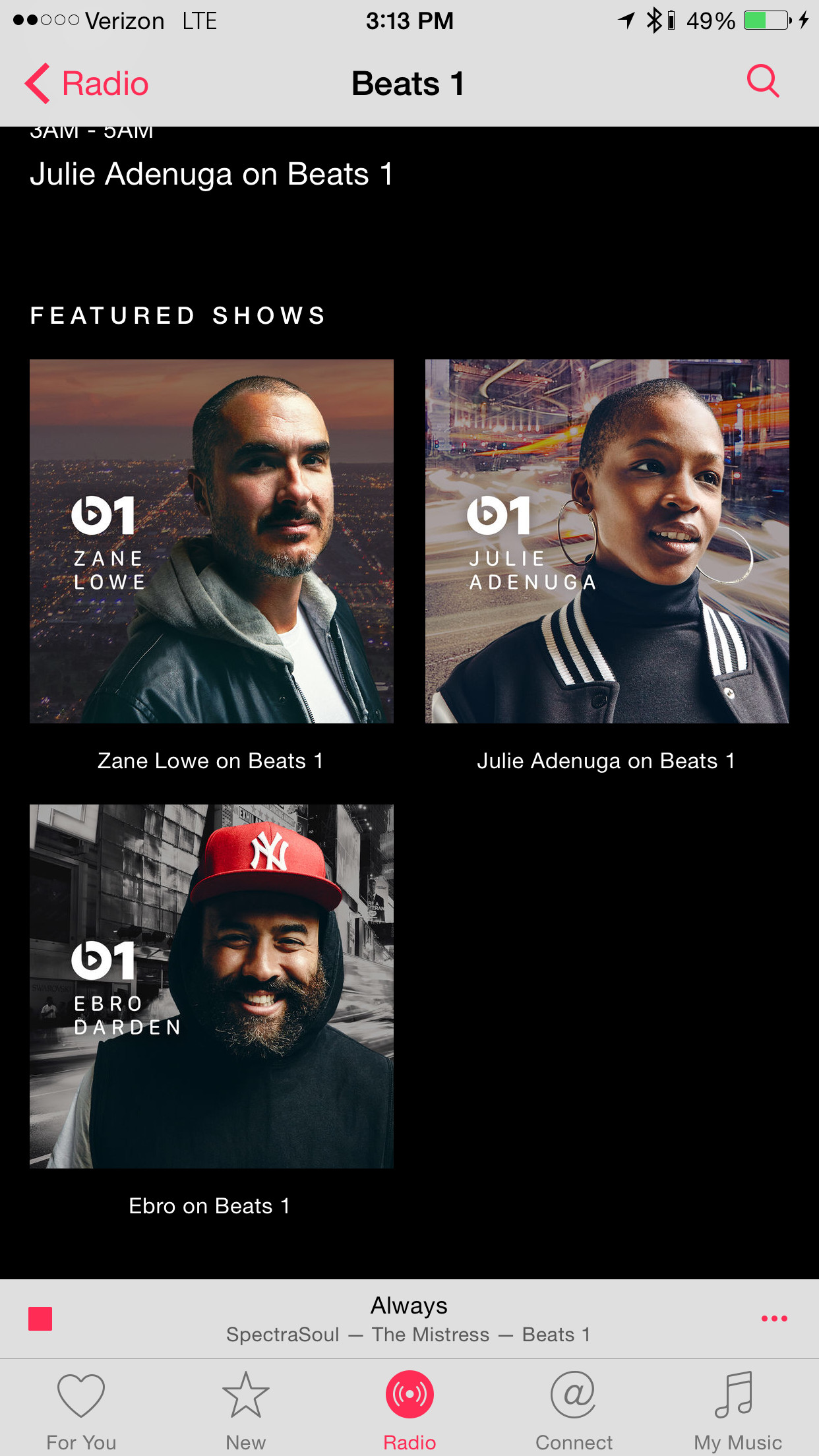 Beats 1 featured shows