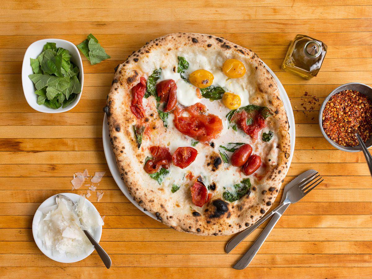 A Neapolitan pizza.