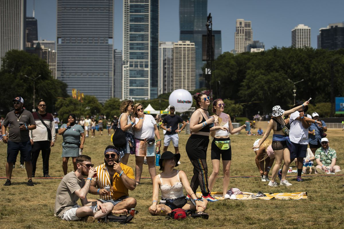 Festival-goers flock to Grant Park for day three of Lollapalooza, Saturday afternoon, July 31, 2021.