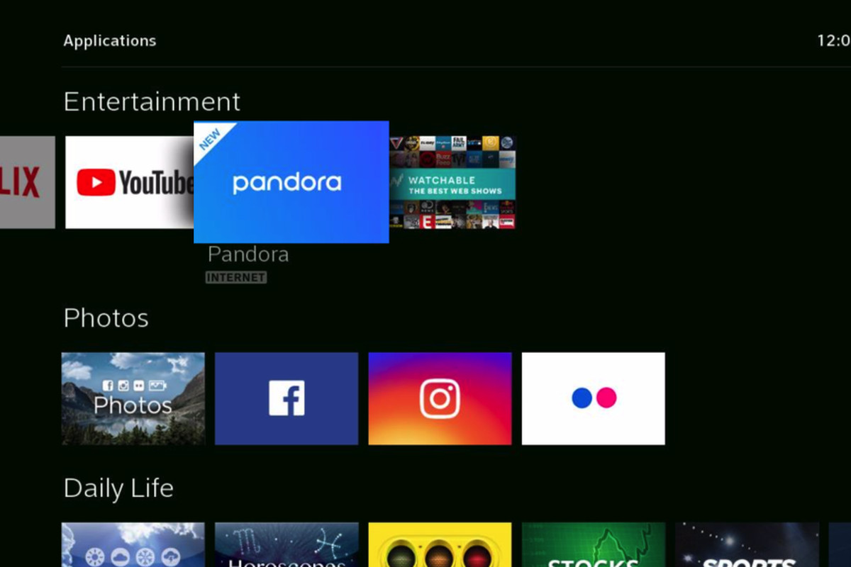 Pandora has overhauled its app on Comcast's Xfinity X1 platform