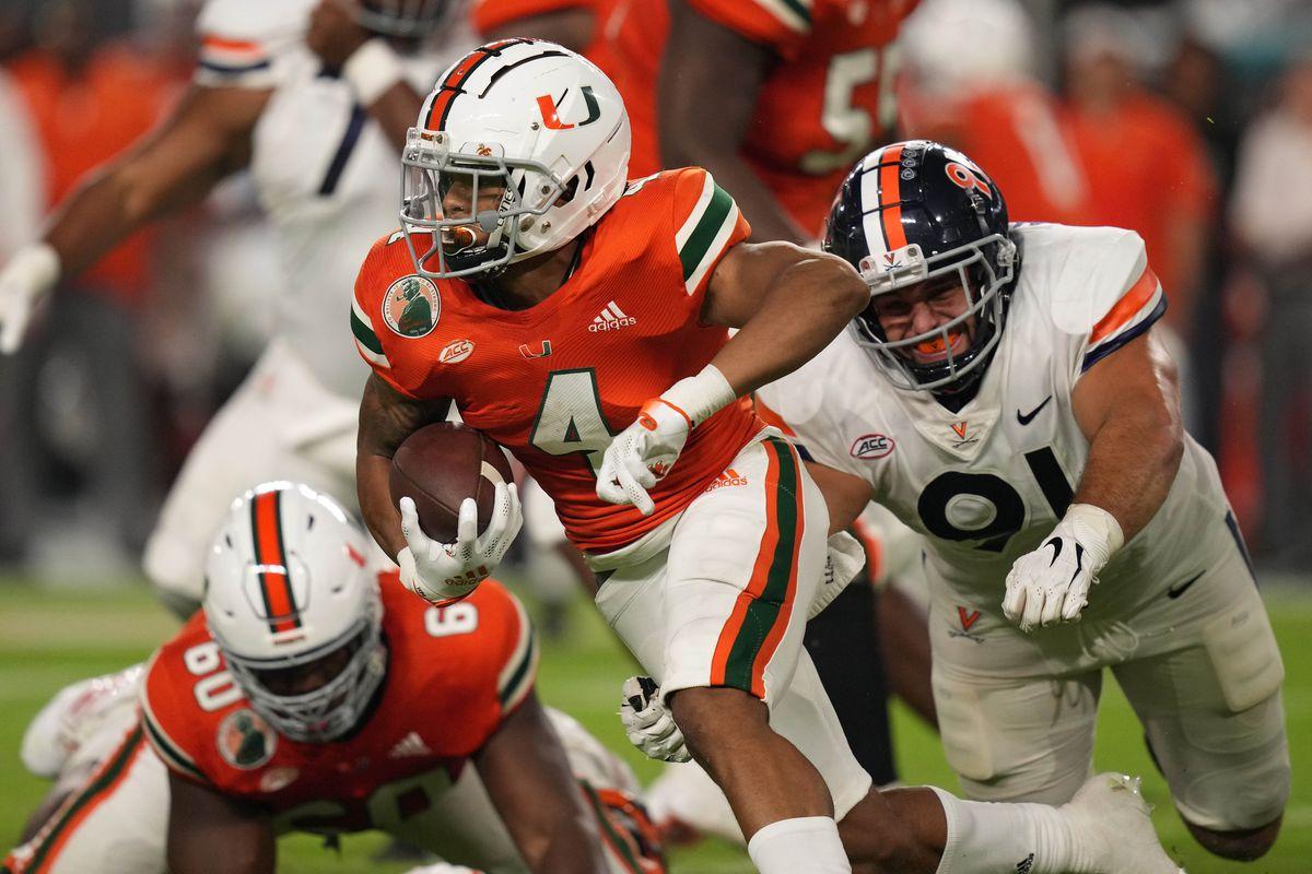 NCAA Football: Virginia at Miami