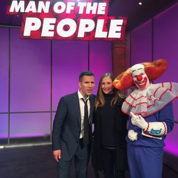 Amy and Pat Tomasulo with a familiar TV pal.  | Provided Photo