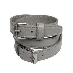 "<strong>Balenciaga</strong> Bracelet Triple Tour in Gris Beton, <a href=""http://www.balenciaga.com/us/bracelet_cod50145138ob.html#"">$185</a>"