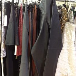 Sample leather pants and bottoms, $99