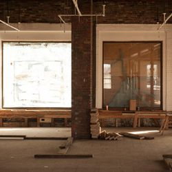 Big windows facing Congress Street - this will be the waiting/take-out area.