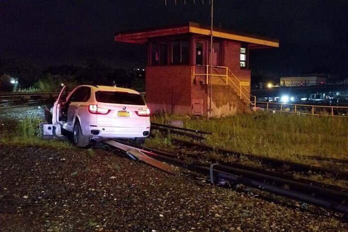 A 42-year-old man drove onto a third rail at a Wakefield, Bronx subway yard early Tuesday morning and told responders GPS directed him.