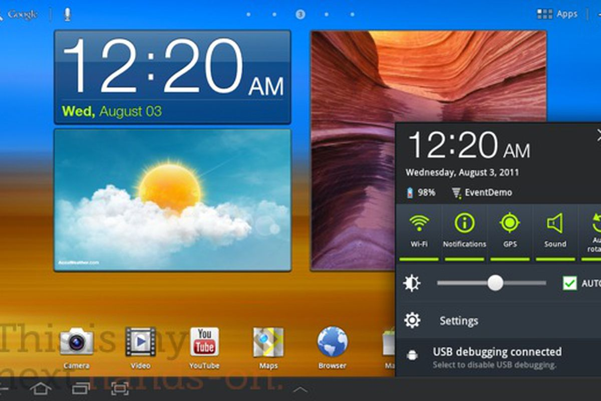 Samsung Galaxy Tab 10 1 TouchWiz UX hands-on (updated with