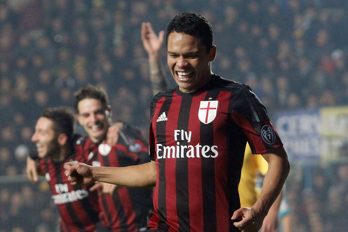 Carlos Bacca and Milan celebrated a come-from-behind victory over Frosinone at the weekend.