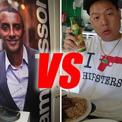 """<a href=""""http://eater.com/archives/2012/08/13/marcus-samuelsson-fires-back-at-eddie-huang.php"""">Samuelsson on Eddie Huang's Criticisms: """"It's a Joke""""</a>"""