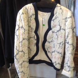 Athe scalloped jacket, $97