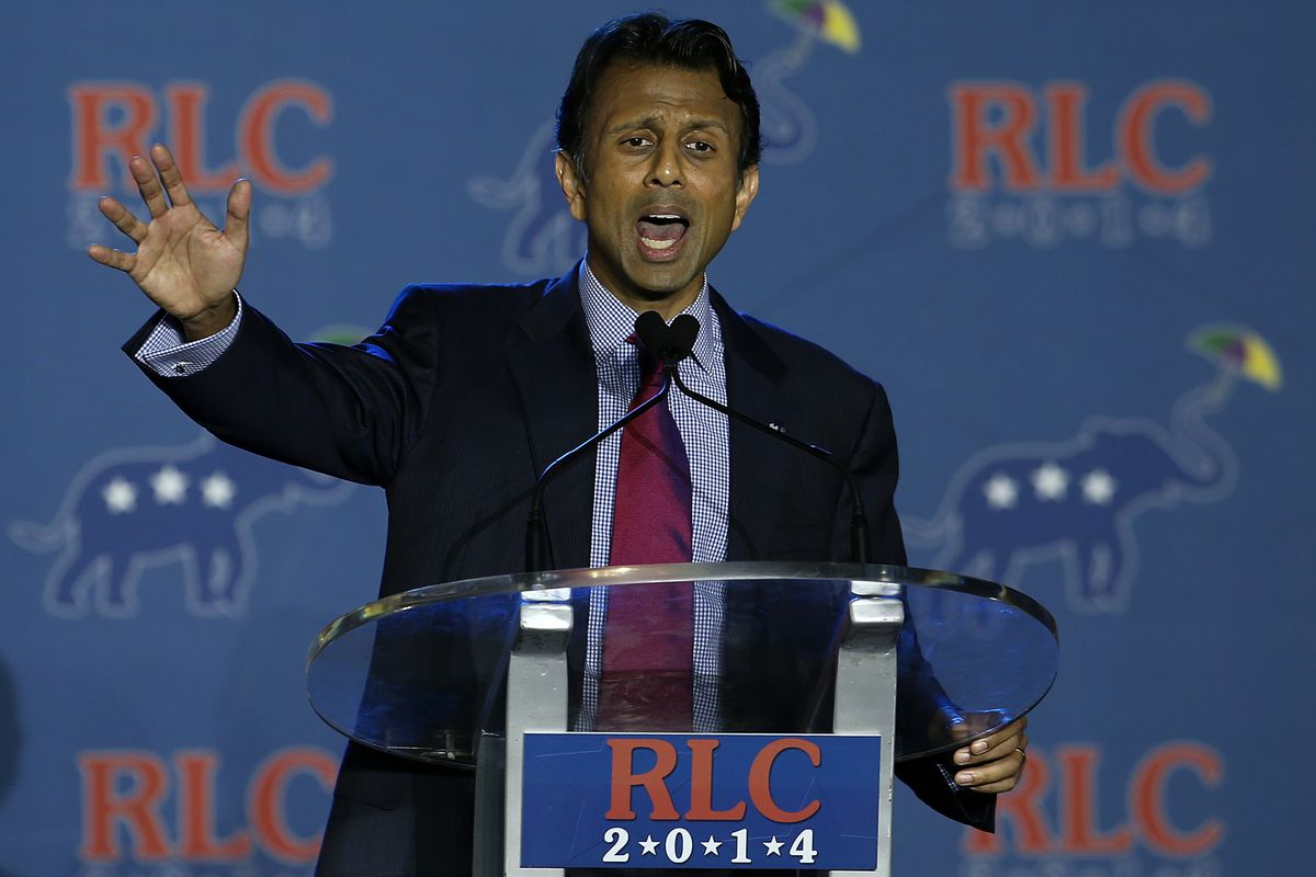 Louisiana Gov. Bobby Jindal speaking at the Republican Leadership Conference.