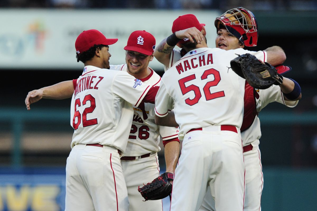 Hugs all around for Cardinals' player development.