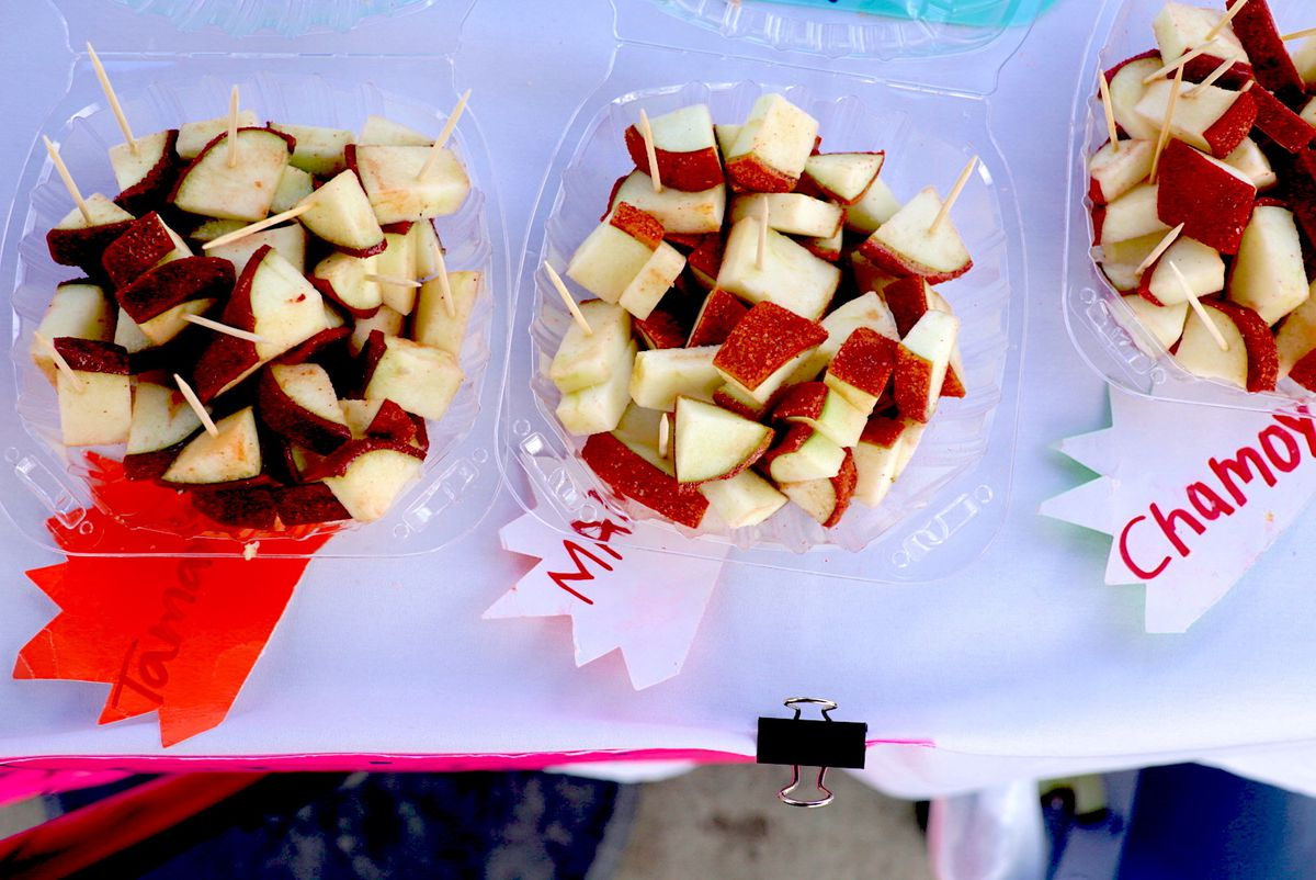 Samples at Downey Apples