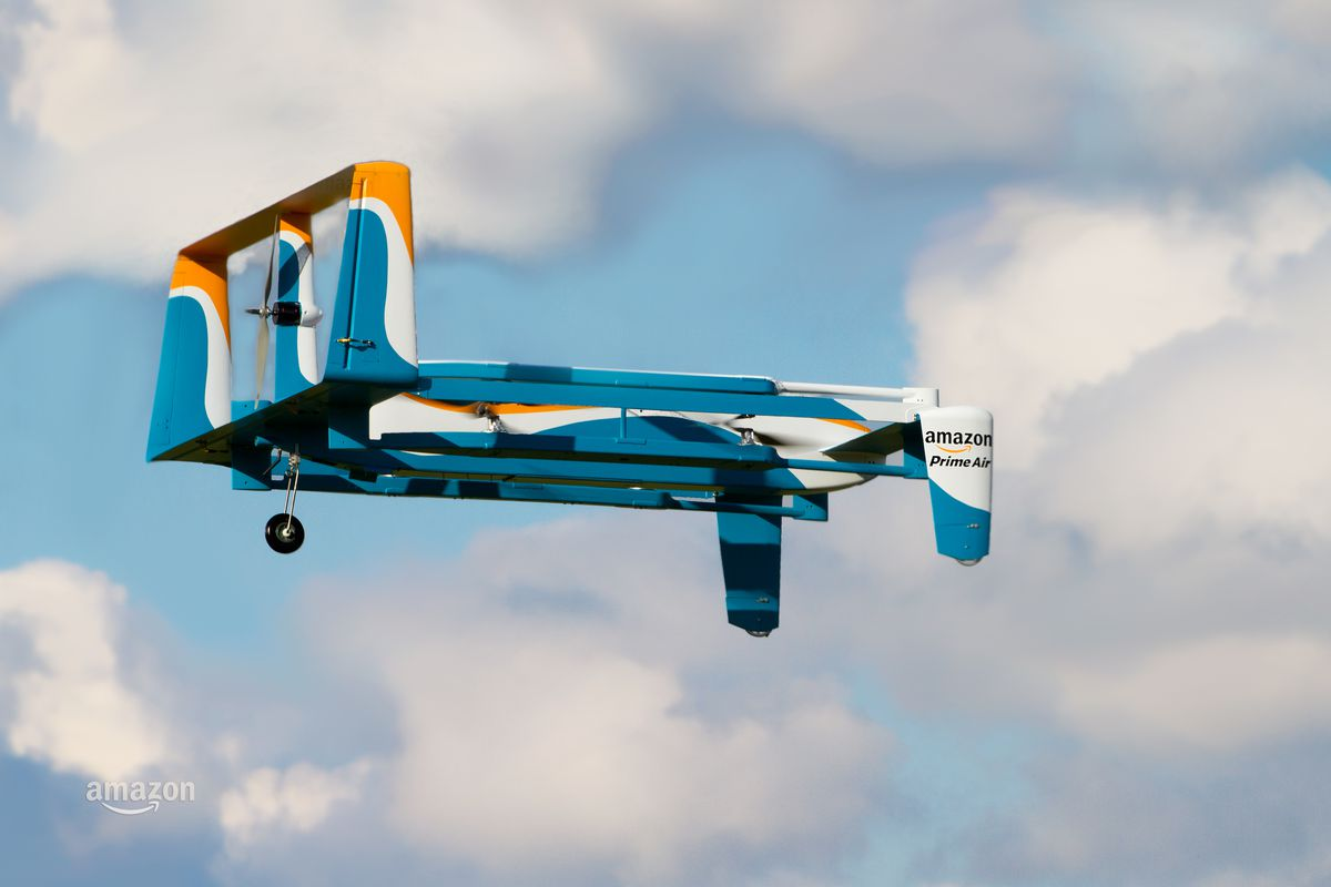 One Of Amazons Prototype Prime Air Drones Shown Here Not Self Destructing At All Image Amazon
