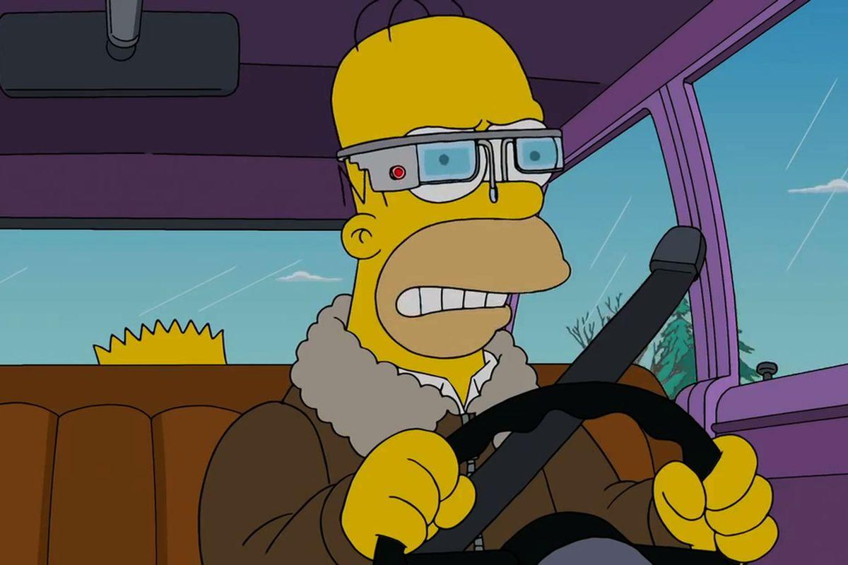 Simpsons Google Glass