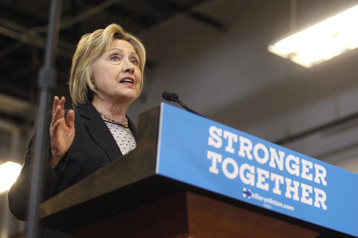 Hillary Clinton in Ohio on Tuesday.