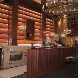 The future bar at Carmine's.