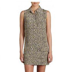 """<b>Equipment</b> <a href=""""http://www.equipmentfr.com/femme/dresses/sleeveless-1/sleevless-lucida-dress-neon-kitten-leopard-print"""">Sleeveless Lucida Dress</a> in Neon Kitten Leopard Print, $268"""
