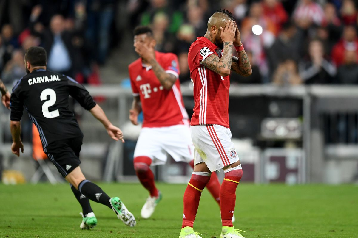 Image result for vidal red card vs real madrid
