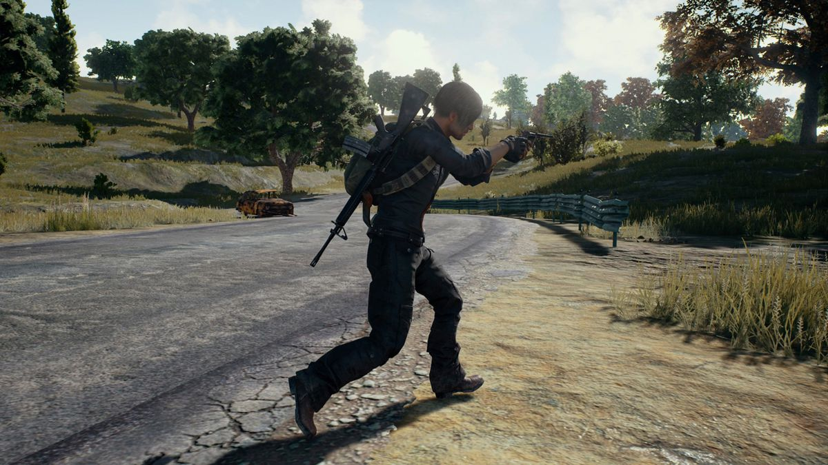 PlayerUnknown's Battlegrounds - man crossing a road