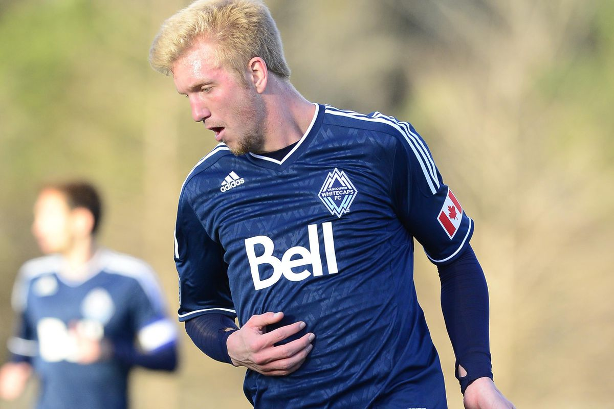 Adam Clement sees pre-season action for the Whitecaps