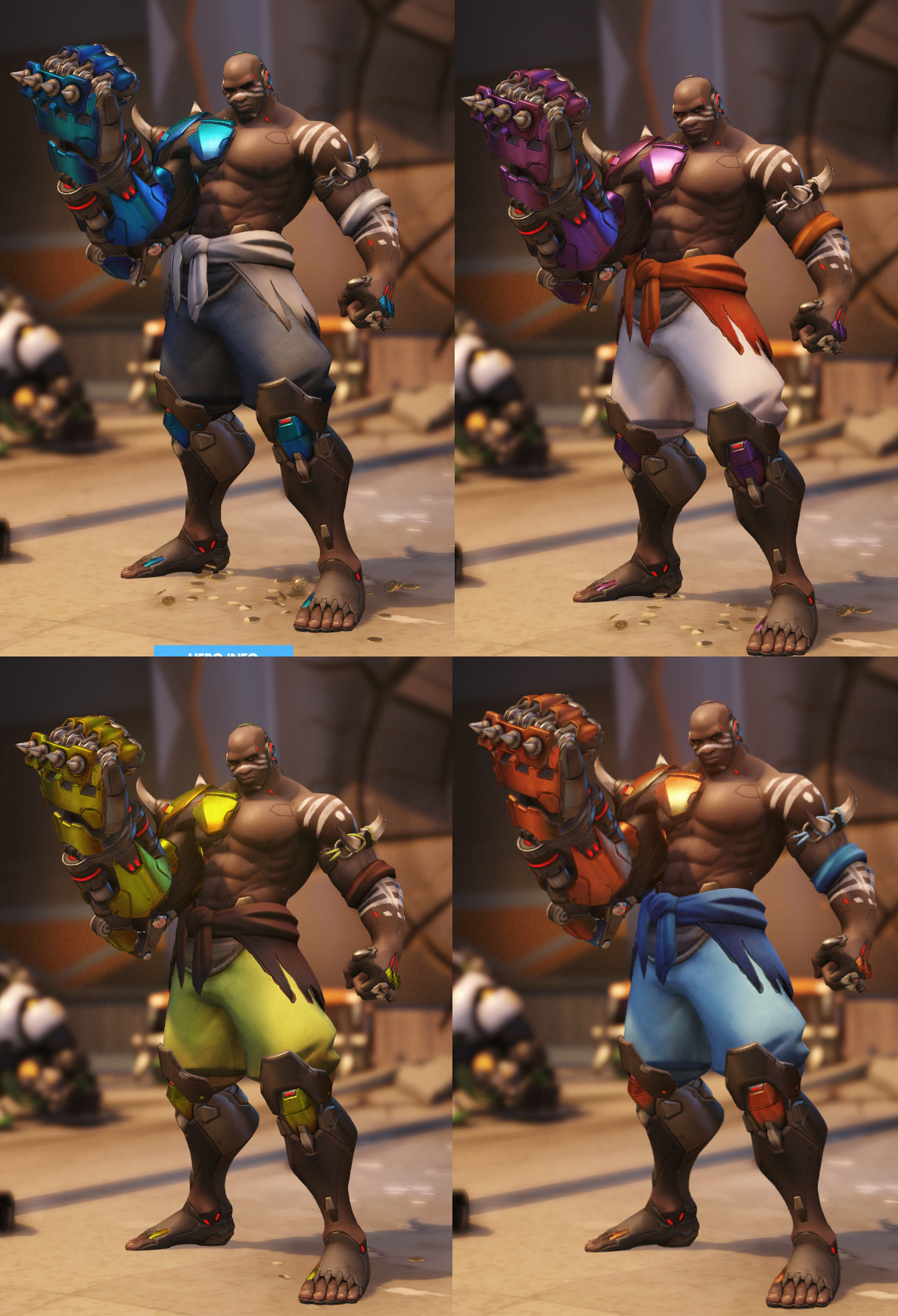 Doomfist's basic recolors also polish up his fist.