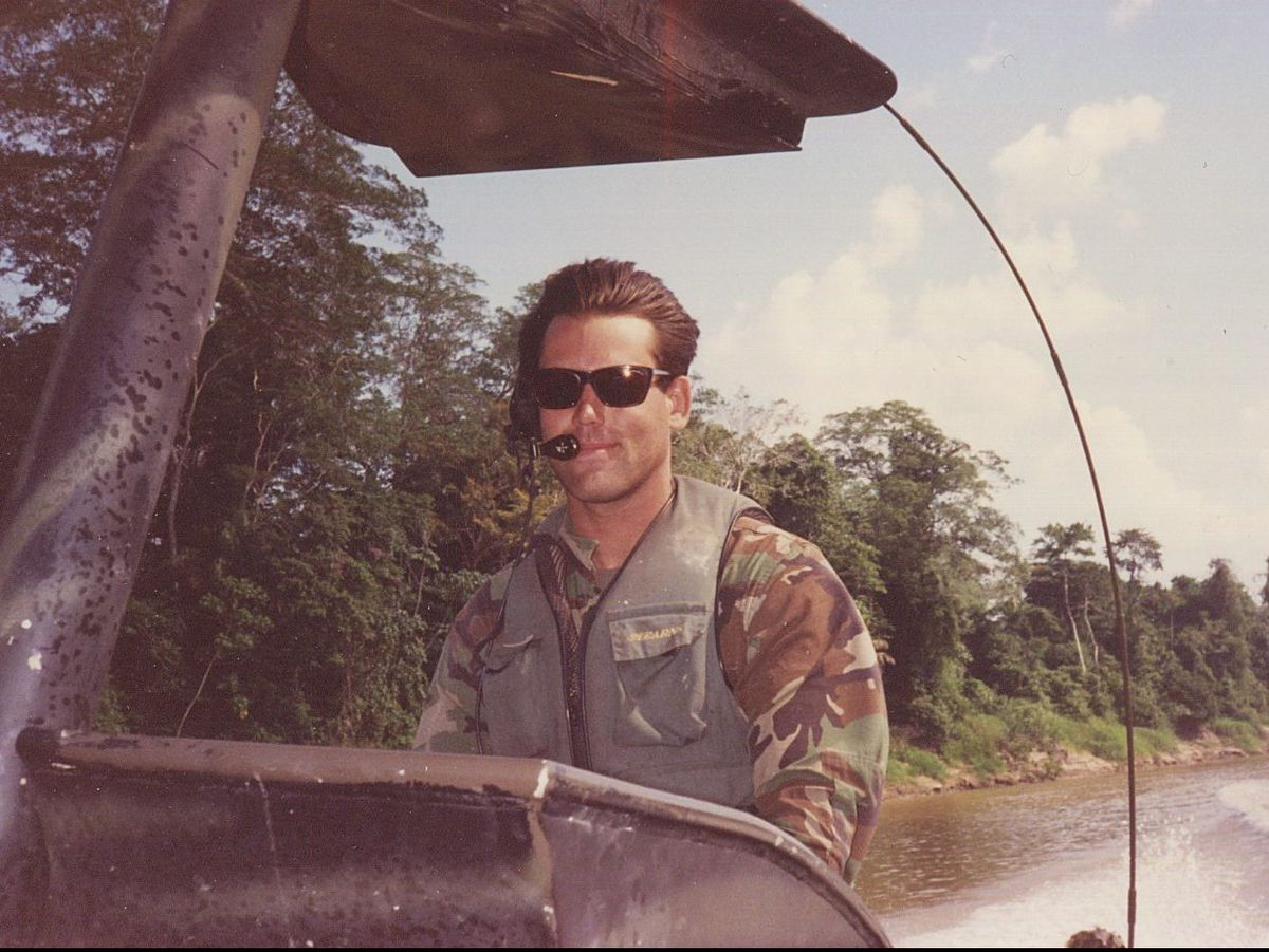 Nick Etten, executive director of the Veterans Cannabis Project, traveling through Panama while serving as a member of SEAL Team 3. | Provided photo