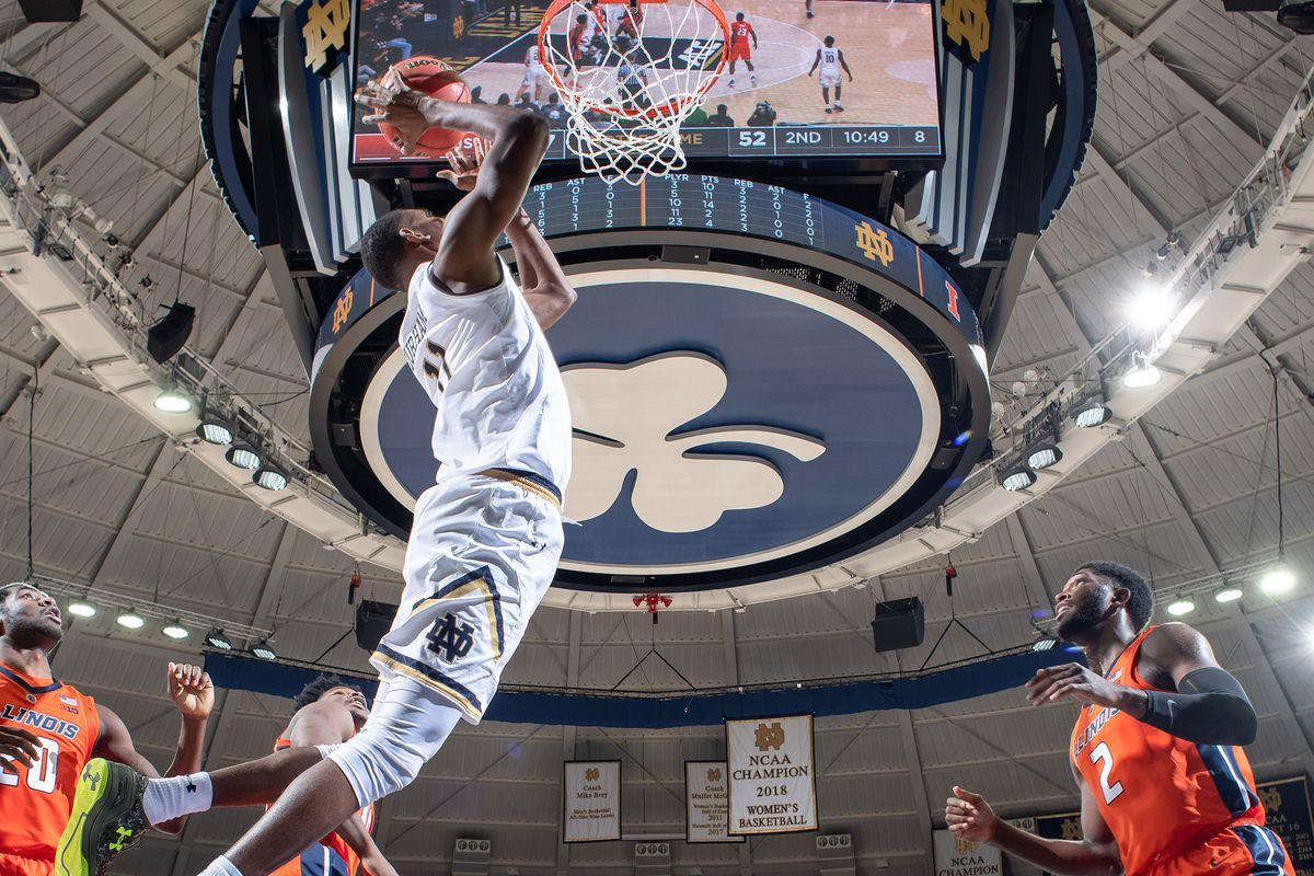 NCAA Basketball: Illinois at Notre Dame