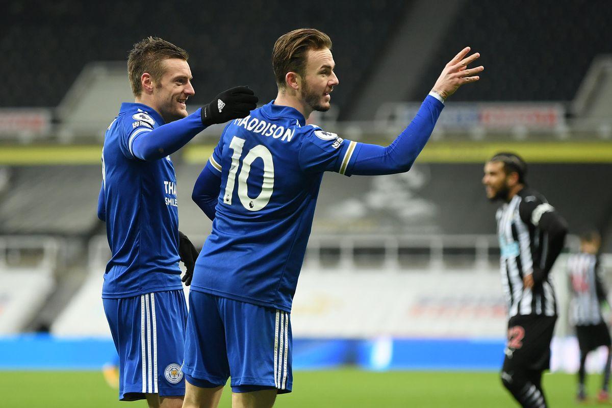 Leicester City, injury news, Southampton, Saints, Jamie Vardy, James Maddison, Premier League, fitness