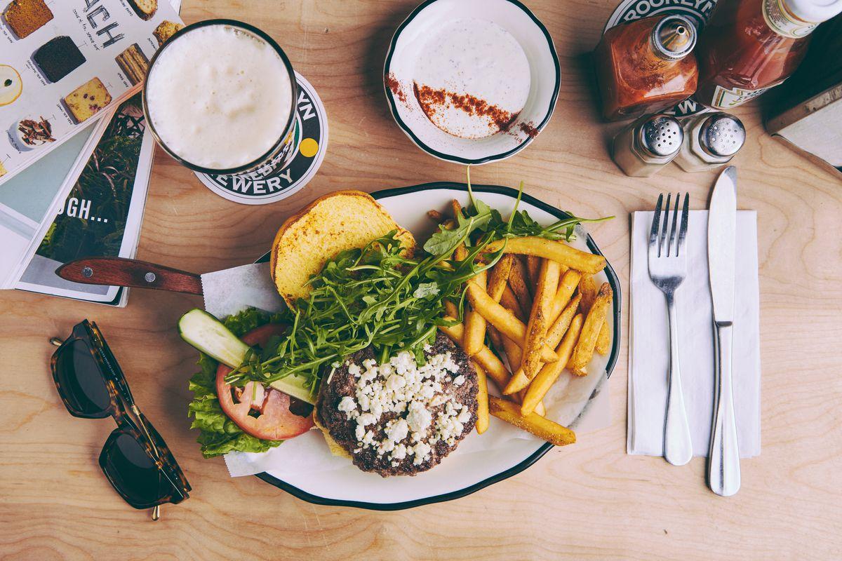 The Greg Norman burger at Black Tap