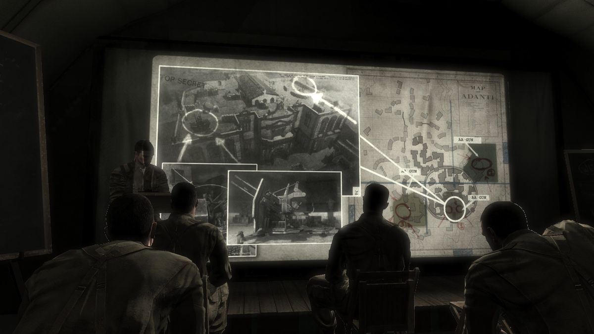 Medal of Honor: Airborne - cutscene of mission briefing