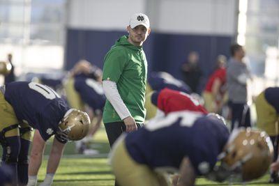NCAA Football: Notre Dame-Practice