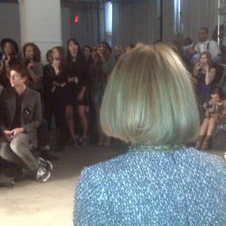 The back of Anna's head, at the Simon Spurr show