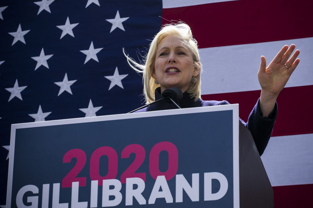 Sen. Kirsten Gillibrand Holds Kickoff Rally At Trump Tower For Presidential Campaign