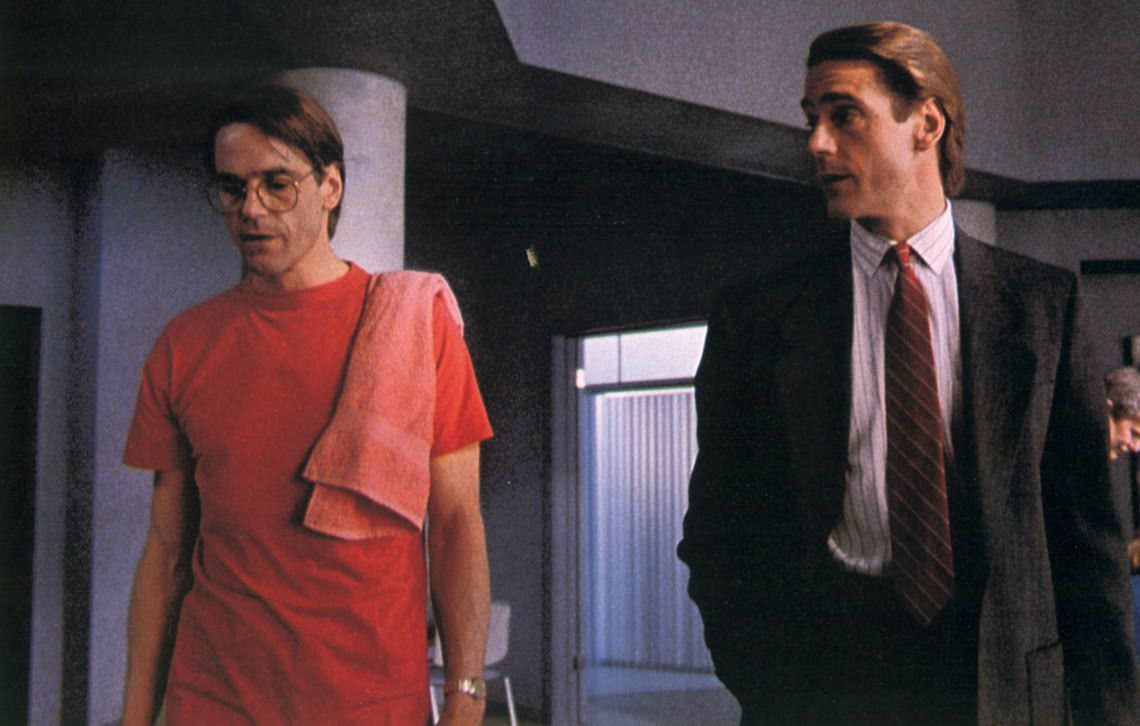 Jeremy Irons as Beverly and Elliot Mantle in David Cronenberg's Dead Ringers