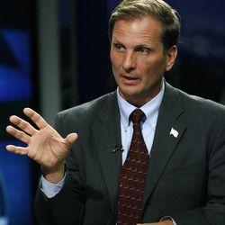 Chris Stewart debates Jay Seegmiller at the KSL studio in Salt Lake City on Thursday, Sept. 13, 2012.