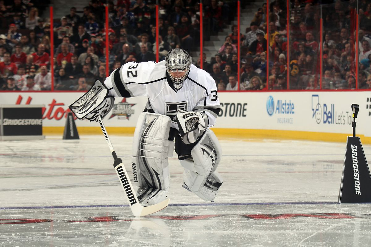 Sadly, no Jonathan Quick skating, but plenty of challenges to go around.