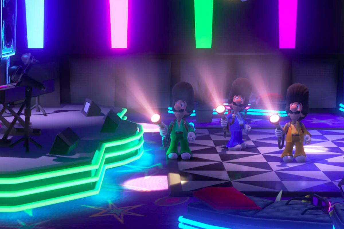 Luigi and Luigi and Luigi and Luigi in Luigi's Mansion 3