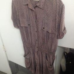 Silk romper, $115